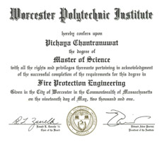 Master Degree in Fire Protection Engineering